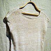 Одежда ручной работы. Ярмарка Мастеров - ручная работа Футболка удлиненная из конопли (hemp). Handmade.