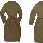 Одежда handmade. Livemaster - original item Coat with a smell, with a belt beige warm. Handmade.