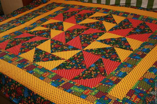 Текстиль, ковры ручной работы. Ярмарка Мастеров - ручная работа. Купить Покрывало одеяло Хуторок-2. Handmade. Тёмно-синий