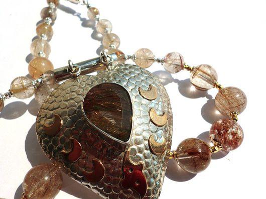 """Колье, бусы ручной работы. Ярмарка Мастеров - ручная работа. Купить колье """"Сердце Венеры"""" - рутиловый кварц. Handmade."""