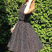 Одежда ручной работы. Ярмарка Мастеров - ручная работа Летнее платье из хлопка в горох. Handmade.