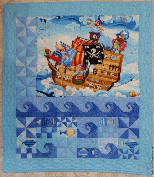 """Пледы и одеяла ручной работы. Ярмарка Мастеров - ручная работа. Купить одеяло для маленьких мечтателей """"Свистать всех наверх"""". Handmade."""