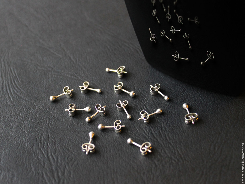 Сережки серебряные гвоздики