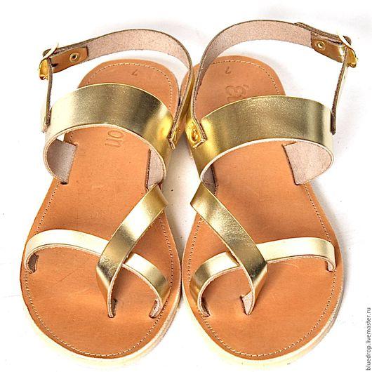 """Обувь ручной работы. Ярмарка Мастеров - ручная работа. Купить Кожаные сандалии """"классические"""" 2 с ремешком. Handmade. Сандалии"""