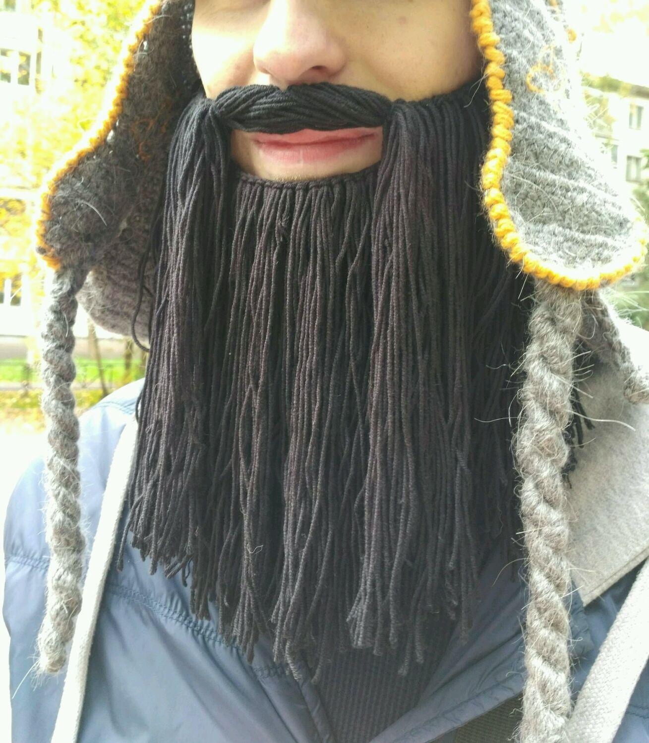 вязаная борода купить в интернет магазине на ярмарке мастеров с