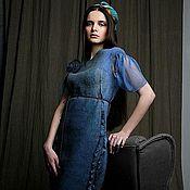 Одежда ручной работы. Ярмарка Мастеров - ручная работа Валяное платье «Полет зимородка». Handmade.