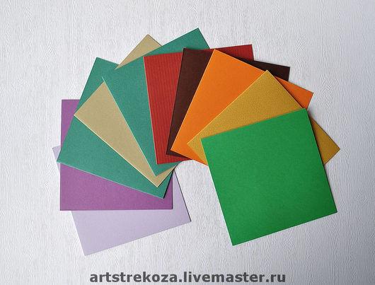 """№1  """"Ассорти"""" набор заготовок под открытки  из дизайнерских бумаг  10 штук - 300 руб"""