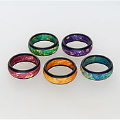 Украшения handmade. Livemaster - original item Colored rings ( on order ). Handmade.