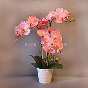 Цветы и флористика ручной работы. Ярмарка Мастеров - ручная работа Розовые орхидеи. Handmade.