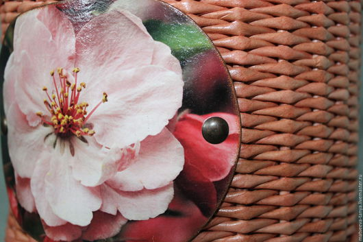 """Корзины, коробы ручной работы. Ярмарка Мастеров - ручная работа. Купить Короб плетеный """"Яблоня в цвету"""". Handmade. Бежевый, сухофрукты"""