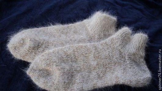 Носки, Чулки ручной работы. Ярмарка Мастеров - ручная работа. Купить 39 разм. Носки из собачьей шерсти. Handmade. Белый