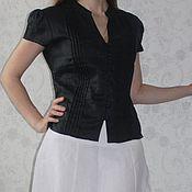"Одежда ручной работы. Ярмарка Мастеров - ручная работа Льняная блузка ""Black"". Handmade."