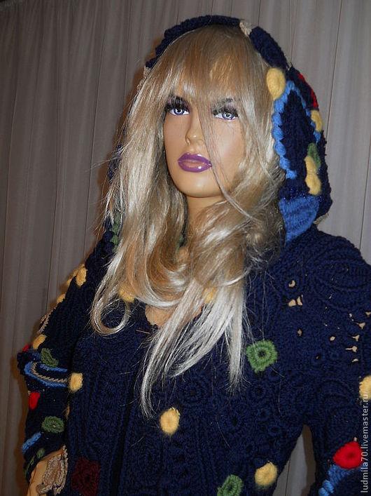"""Верхняя одежда ручной работы. Ярмарка Мастеров - ручная работа. Купить Пальто вязаное """"Осенний блюз"""". Handmade. Пальто вязанное"""
