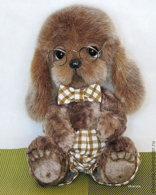 Мишки Тедди ручной работы. Ярмарка Мастеров - ручная работа. Купить Фёдор- пёс-тедди. Handmade. Коричневый, собака, плюш