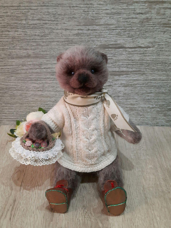 """Войлочный мишка """"Федор"""", Войлочная игрушка, Саратов,  Фото №1"""