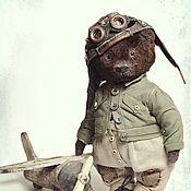 Куклы и пупсы ручной работы. Ярмарка Мастеров - ручная работа Куклы: Мишка-лётчик. Handmade.