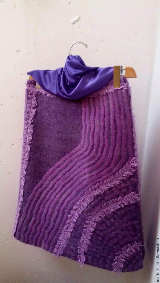 Юбки ручной работы. Ярмарка Мастеров - ручная работа. Купить Валяная юбка. Handmade. Фиолетовый, юбка для девушки, авторская одежда