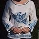"""Одежда ручной работы. Ярмарка Мастеров - ручная работа. Купить Костюм """"Сказочная Гжель"""". Handmade. Гжель, льняная блузка"""