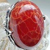 Украшения handmade. Livemaster - original item Ring with natural chalcedony