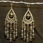 Украшения handmade. Livemaster - original item Long earrings with rauchtopaz. Handmade.