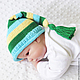 Для новорожденных, ручной работы. Ярмарка Мастеров - ручная работа. Купить шапочка для фотосессии, шапка колпачок зеленый, желтый, голубой. Handmade.