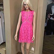 Одежда handmade. Livemaster - original item Pink lace dress. Handmade.