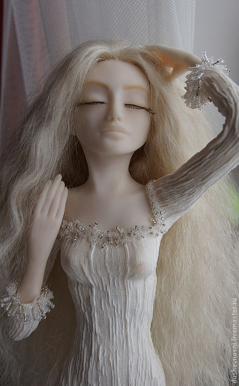Коллекционные куклы ручной работы. Ярмарка Мастеров - ручная работа. Купить Зимняя береза. Handmade. Белый, интерьерная кукла