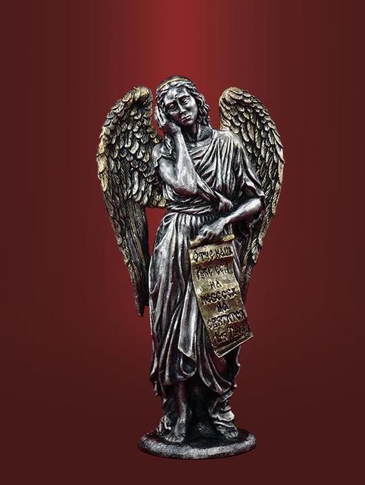 Фигурка ангела в чернении - 3500 рублей