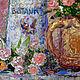 """Картины цветов ручной работы. Картина """"Натюрморт в Стиле Прованс"""" картина с цветами розы васильки. ЯРКИЕ КАРТИНЫ Наталии Ширяевой. Ярмарка Мастеров."""