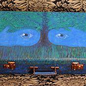 """Сумки и аксессуары ручной работы. Ярмарка Мастеров - ручная работа """"Космос внутри"""". Чемодан для хранения.. Handmade."""