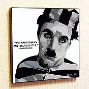 Картины и панно handmade. Livemaster - original item Painting poster Pop Art Charlie Chaplin. Handmade.
