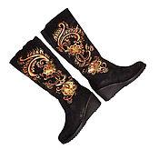 Обувь ручной работы handmade. Livemaster - original item Winter boots women with painted