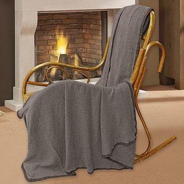 Текстиль ручной работы. Ярмарка Мастеров - ручная работа Плед шоколадный Чарли 235х210 см. Handmade.