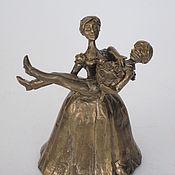 Сувениры и подарки handmade. Livemaster - original item Bronze bell Lady with the groom. Handmade.
