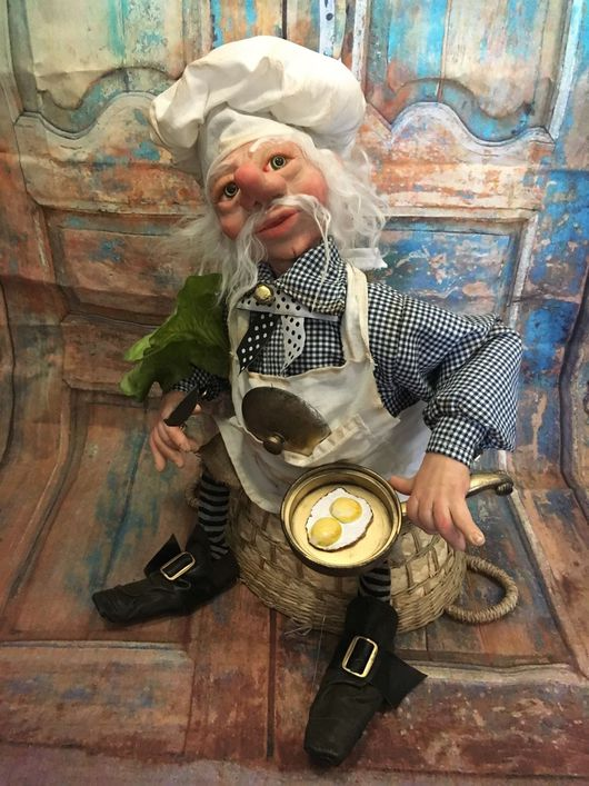 Коллекционные куклы ручной работы. Ярмарка Мастеров - ручная работа. Купить Повар от Бога Смак Макарыч Глазунофф. Handmade.