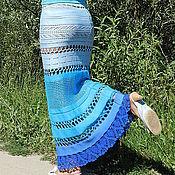 """Одежда ручной работы. Ярмарка Мастеров - ручная работа вязаная юбка """"Лагуна"""". Handmade."""
