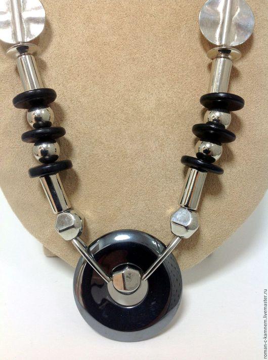 Колье, бусы из дерева и металла в стиле конструктивизм  Хайтек. Необычное, концептуальное колье -  оригинальный подарок для стильных, неординарных женщин и девушек.