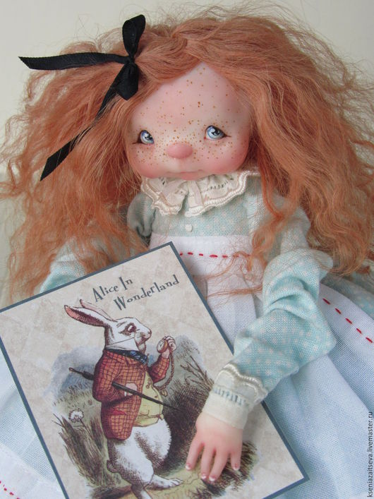 """Коллекционные куклы ручной работы. Ярмарка Мастеров - ручная работа. Купить """"Alice"""". Handmade. Голубой, алиса в стране чудес"""