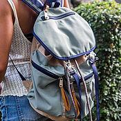 Сумки и аксессуары handmade. Livemaster - original item Male ( female ) backpack durable water resistant canvas. Handmade.