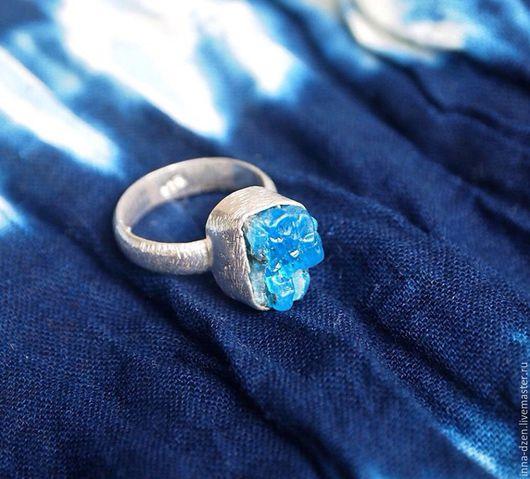 Кольца ручной работы. Ярмарка Мастеров - ручная работа. Купить Кольцо с кианитом. Handmade. Синий, кольцо с кианитом, необработанные камни