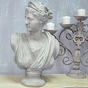 Для дома и интерьера handmade. Livemaster - original item Bust of a Greek girl made of concrete for home and garden. Handmade.