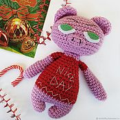 Куклы и игрушки handmade. Livemaster - original item Knitted pig toy from Angry collection. Handmade.