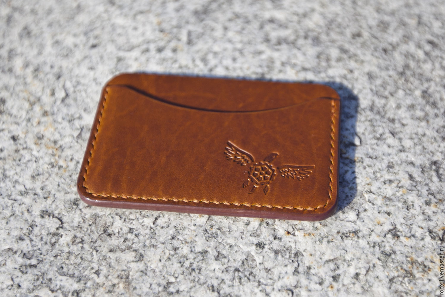 The image card Holder leather Horween Chromexcel Pull Up – shop ...