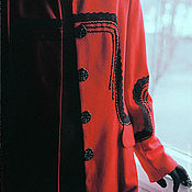 Одежда handmade. Livemaster - original item Jacket red wool Fire Power. Handmade.