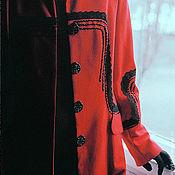 Одежда ручной работы. Ярмарка Мастеров - ручная работа Жакет красный из шерсти Огонь Власти. Handmade.