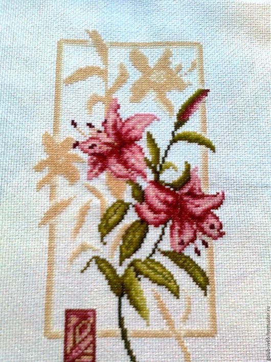 Картины цветов ручной работы. Ярмарка Мастеров - ручная работа. Купить Отражение лилии. Handmade. Коралловый, подарок на любой случай