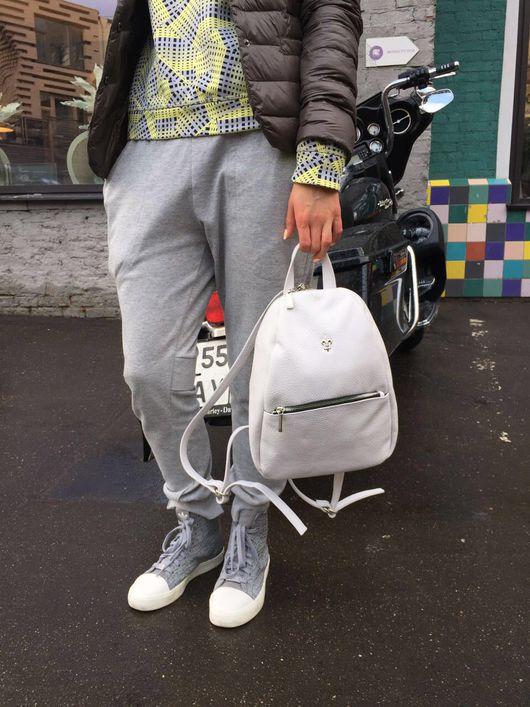 Рюкзаки ручной работы. Ярмарка Мастеров - ручная работа. Купить Кожаный рюкзак Rainbow. Handmade. Бордовый, рюкзак кожаный