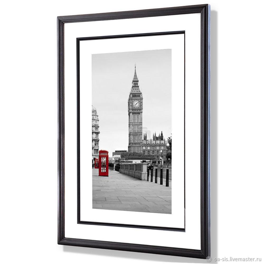 Красный телефон в Лондоне и Биг-Бен, Картины, Москва,  Фото №1