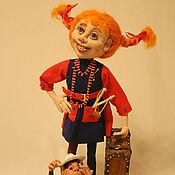 Куклы и игрушки ручной работы. Ярмарка Мастеров - ручная работа Кукла Пеппи. Handmade.