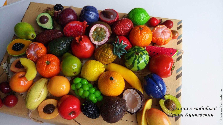 Овощи и фрукты из глины